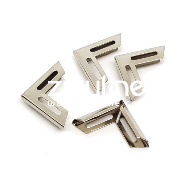 Coins métal - Ajourés argentés - Photo n°1