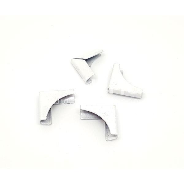 Coins métal - Plein blanc - Photo n°1