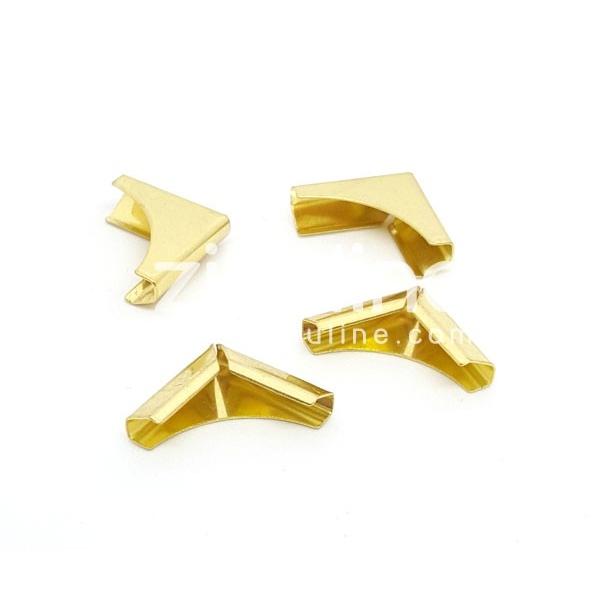 Coins métal - Plein doré - Photo n°1