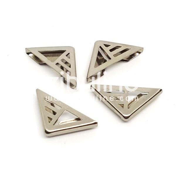 Coins métal - Triangle ajouré