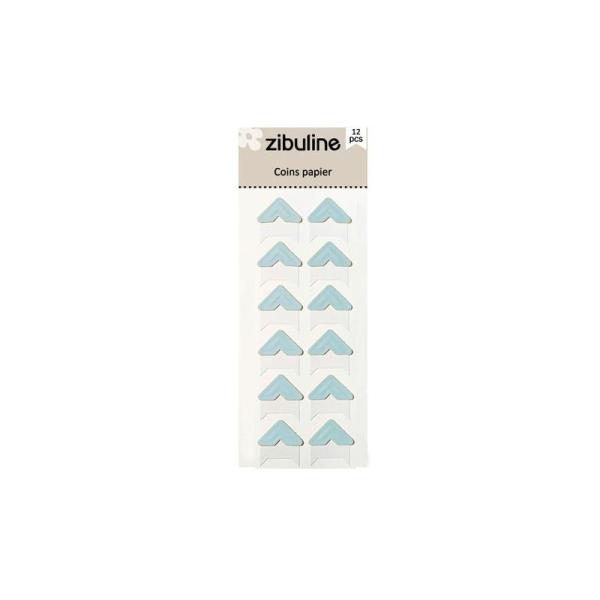 Coins papier - Bleu - Photo n°1