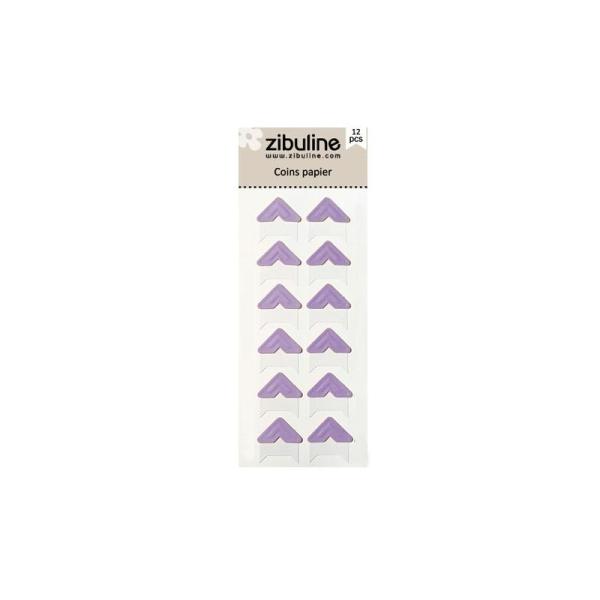 Coins papier - Violet - Photo n°1