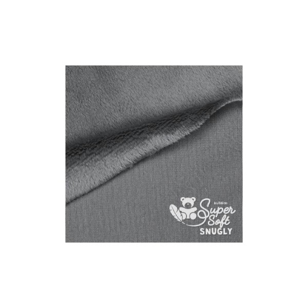 Coupon de tissu peluche Snuggly - Poils longs 5 mm - Gris - 75 x 100 cm - Photo n°2