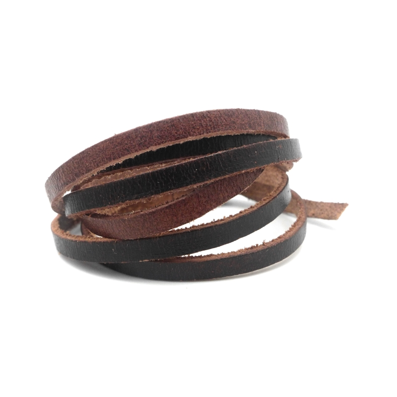 1m lani re cuir plat 4 5mm de couleur marron fonc effet naturel d grad rustique cordon cuir. Black Bedroom Furniture Sets. Home Design Ideas