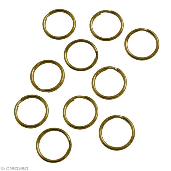 Anneau porte-clés Bronze - 15 mm - 10 pcs - Photo n°1