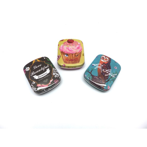 Lot De 3 Boites Métalliques De Rangement , Boite Cadeaux, Ou Boite À Collectionner Motif Assorti H - Photo n°1