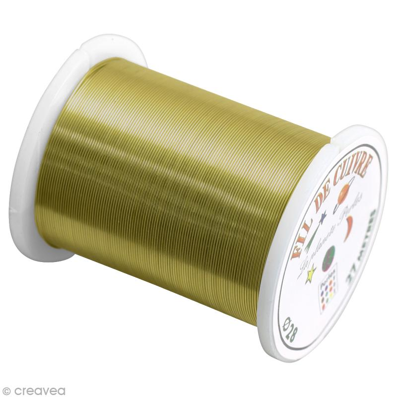 bobine de fil cuivre dor 0 4 mm 27 m tres fil m tallique creavea. Black Bedroom Furniture Sets. Home Design Ideas