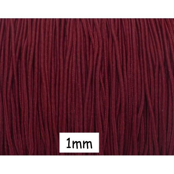 r 5m fil lastique 1mm de couleur rouge grenat bordeaux fil lastique creavea. Black Bedroom Furniture Sets. Home Design Ideas