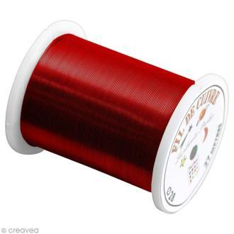 Bobine de fil cuivre Rouge - 0,4 mm - 27 mètres