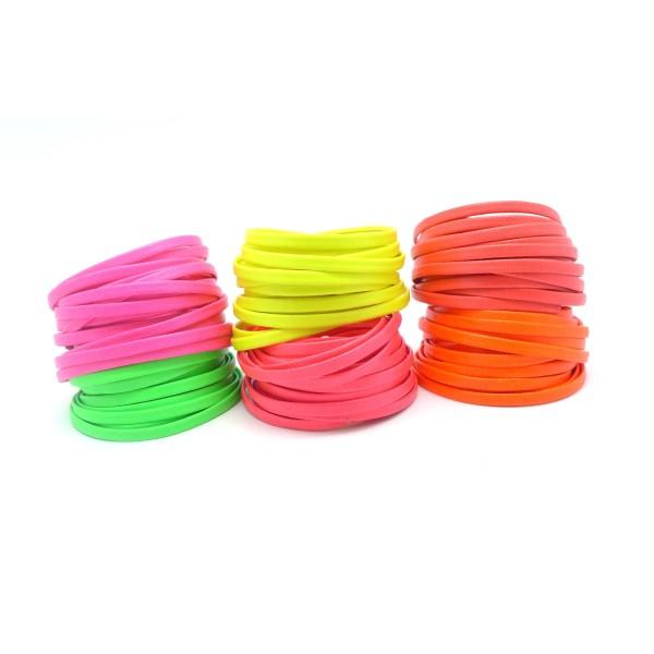 Fluorescent Couleur bracelet en cuir