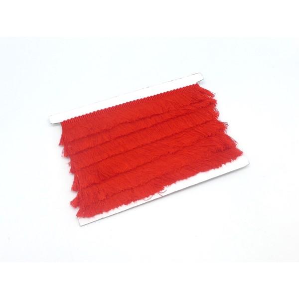 50cm De Galon Frange De Couleur Rouge En Polyester Et Coton - Photo n°2