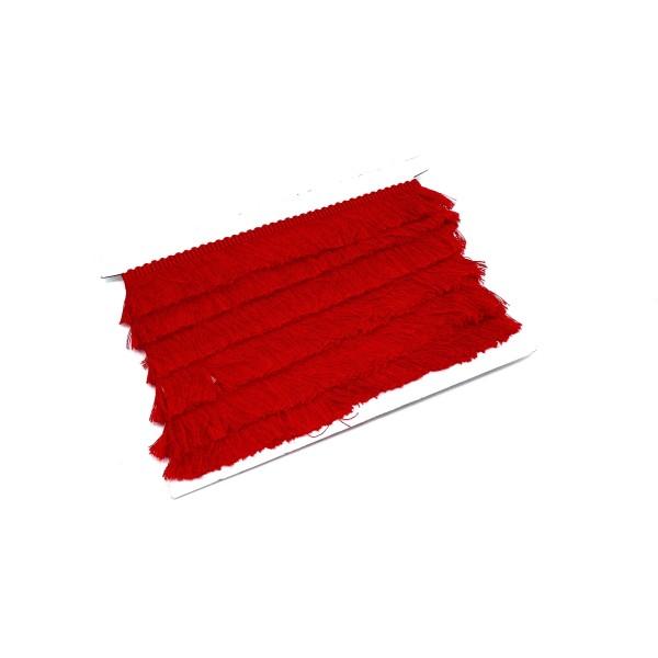 50cm De Galon Frange De Couleur Rouge En Polyester Et Coton - Photo n°1