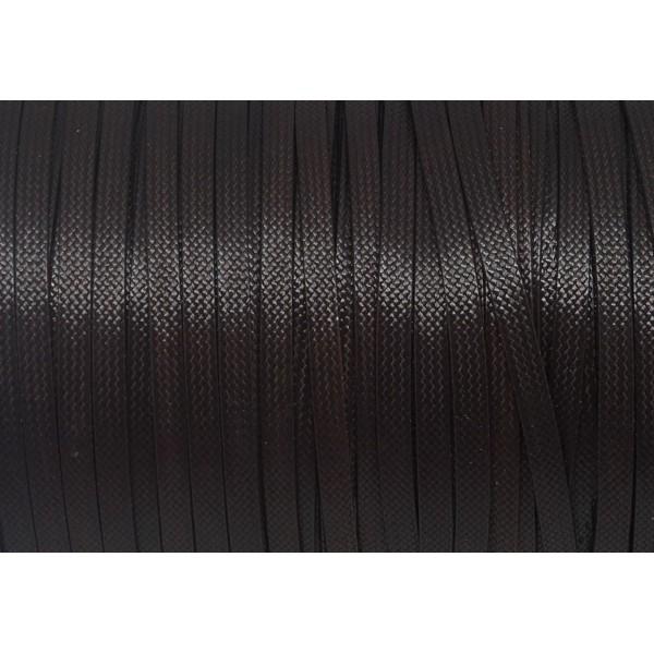 2 mm d/'épaisseur 1 MÈTRE FIL CORDON LACET COTON ENDUIT BRILLANT Façon CUIR