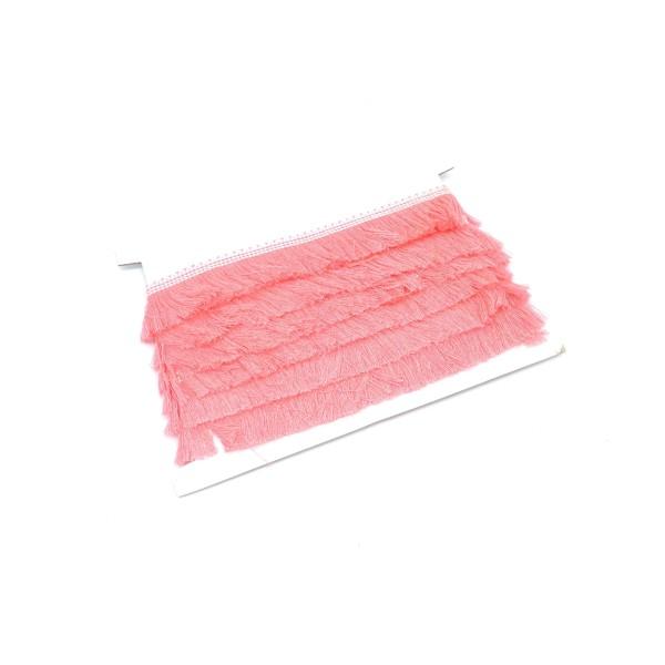 50cm De Galon Frange  Rose En Polyester Et Coton - Photo n°1