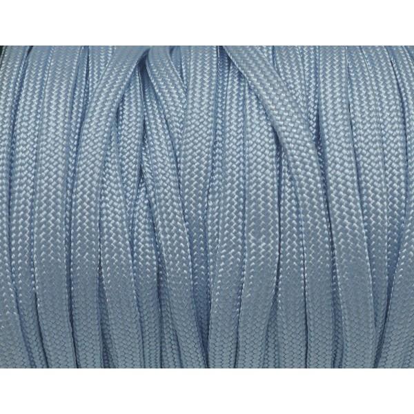2m Paracorde Bleu Ciel Cordon Nylon Tressé 4,5mm X 2mm - 7 Fils - Corde Nylon Gainé - Photo n°2