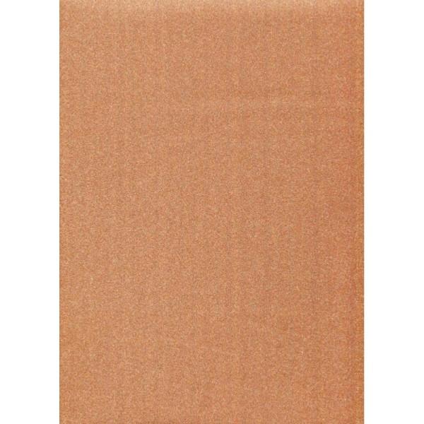 Papier glitter orange - Photo n°1