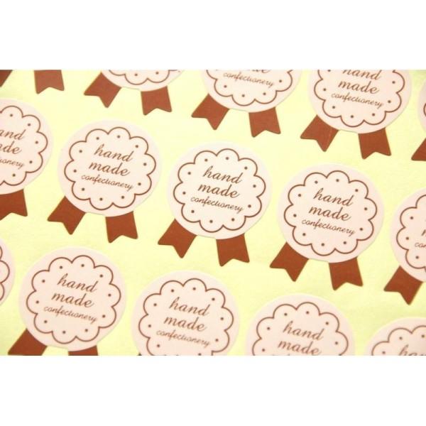 72 Etiquettes Handmade ivoire, stickers autocollants, pâtisseries ... - Photo n°2