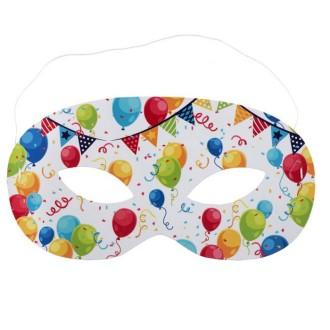 10 Masques en carton Arlequin multicolore