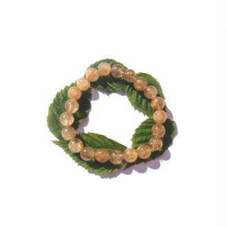 Bracelet Quartz Rutiles Dorées sur fil élastique 17,5/20 CM x 8 MM de diamètre