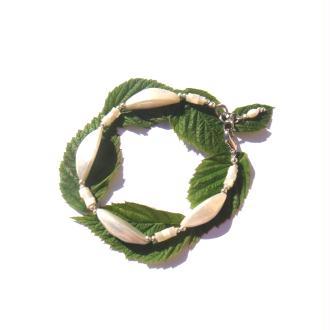 Bracelet Coquillage et Nacre 17,8 à 18,7 CM de tour de poignet x 1 CM