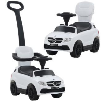 Vidaxl Voiture à Roulettes Avec Poussoir Mercedes Benz Gle63 Blanc