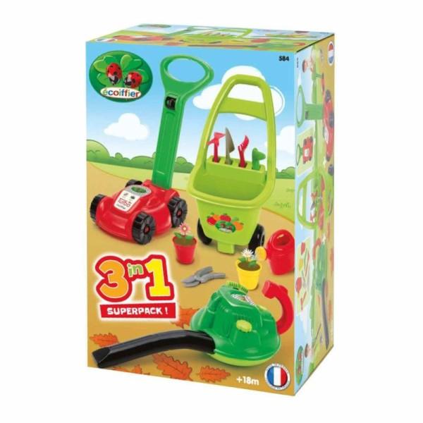 Ecoiffier Jeu D\'outils De Jardinage 3-en-1 Rouge 1430301