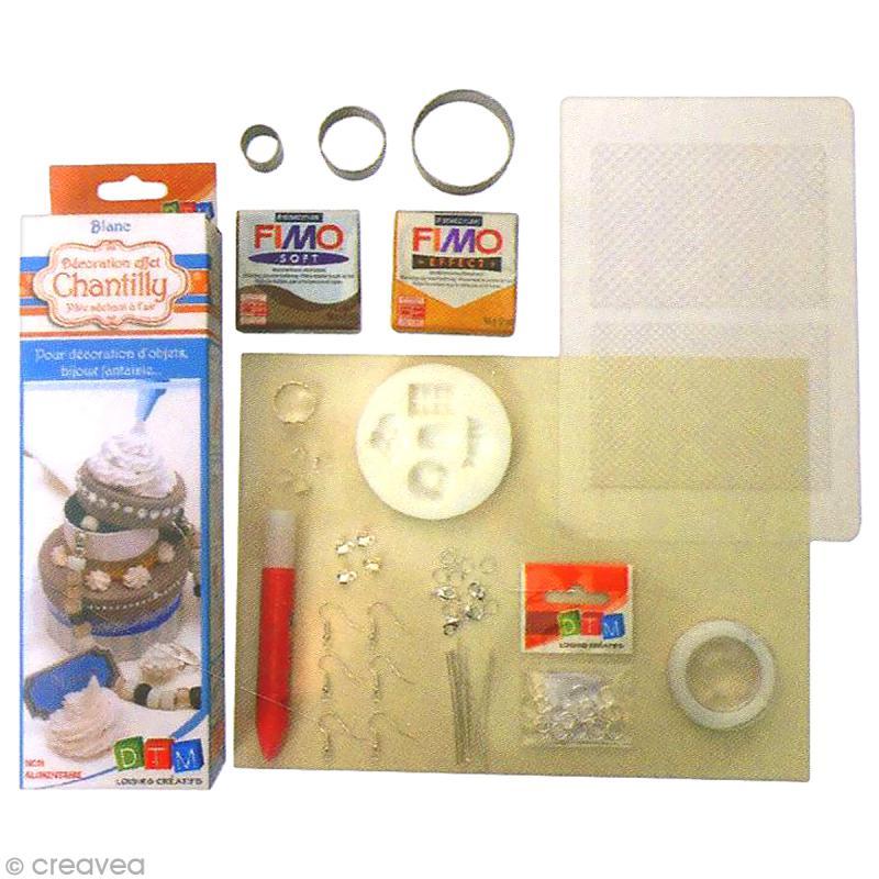 Kit créatif modelage pâte Fimo - Parure de bijoux - Gourmand - Photo n°3