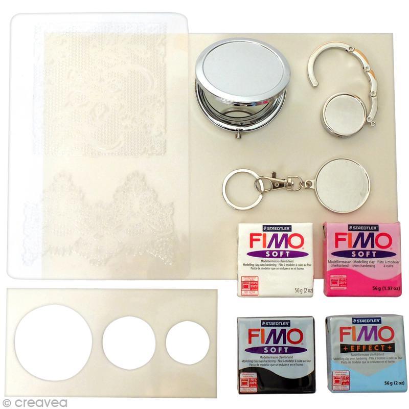 Kit créatif modelage Fimo - Accessoires de sac - Tendresse - Photo n°3