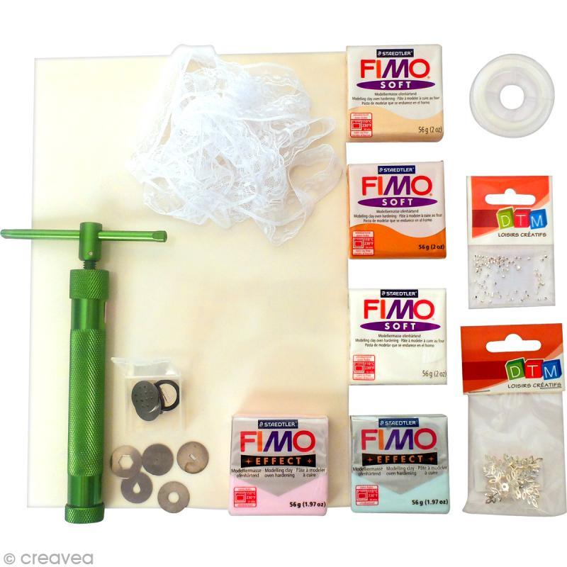 kit cr atif modelage p te fimo collier de perles douceur kit modelage creavea. Black Bedroom Furniture Sets. Home Design Ideas