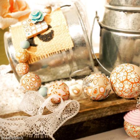 Kit créatif modelage Fimo - Collier de perles - Douceur - Photo n°5