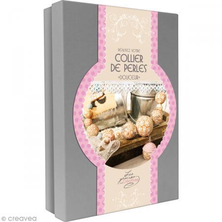 Kit créatif modelage Fimo - Collier de perles - Douceur - Photo n°1