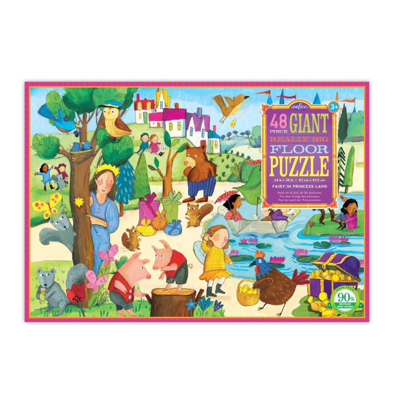 Puzzle géant 48p- fée au royaume des princesses - Photo n°1