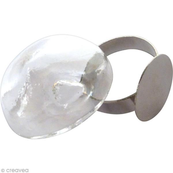 Bague globe en verre - Ovale - Photo n°2