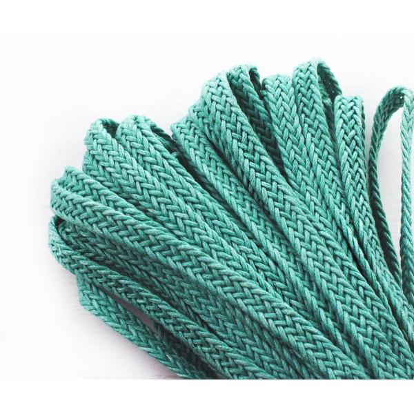 2yrd 1,8 m bleu Turquoise Vert de Draps en Coton Ruban Tissu à Plat Cordon Macrame Boho Style de Bra - Photo n°1