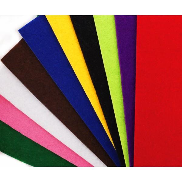 10pcs le Feutre Coloré des Feuilles de Tissu de Polyester Broderie Scrapbooking Décoration DIY Craft - Photo n°1