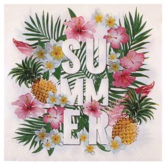 20 Serviettes en papier décor Tropical