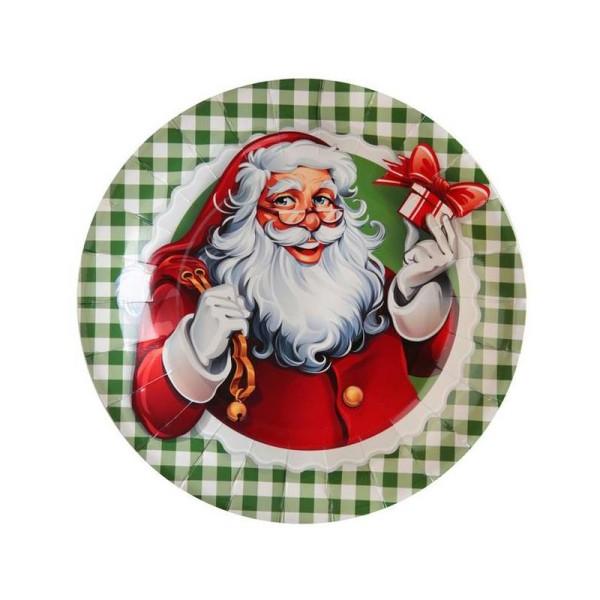 10 Assiettes en carton Il était une fois Noël - Photo n°1
