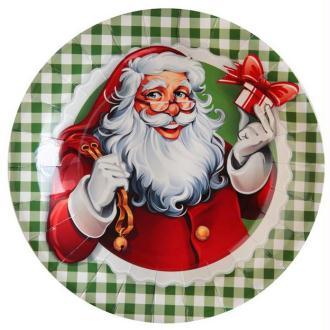 10 Assiettes en carton Il était une fois Noël