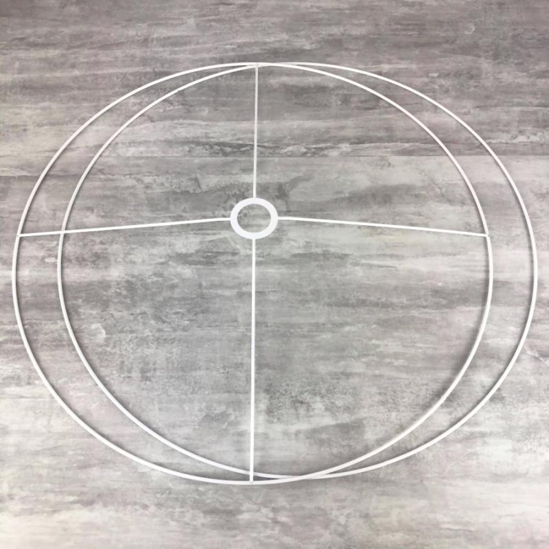 Set d\'Ossature Diamètre 90cm pour abat-jour XXL, Anneaux ronds Epoxy ...