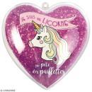 Coeur cadeau créatif - Licorne - 5 pcs