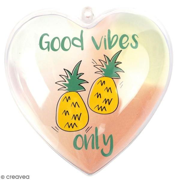 Coeur cadeau créatif - Good vibes - 5 pcs - Photo n°1
