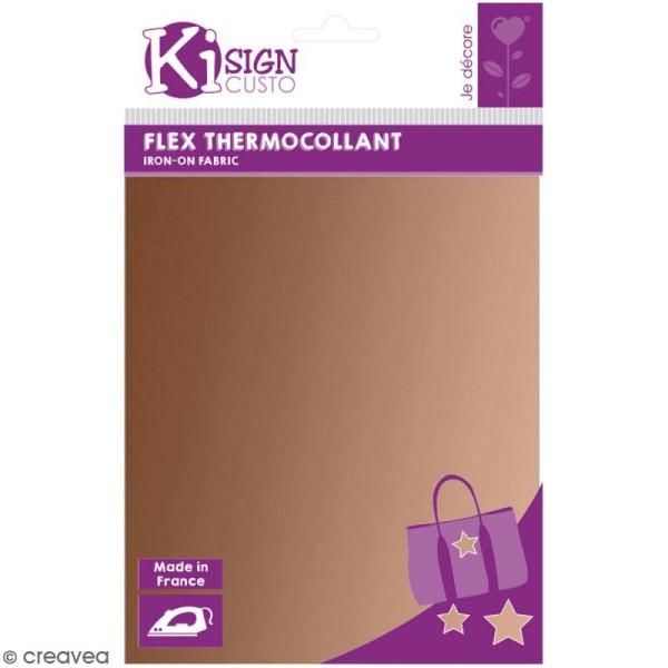 Flex thermocollant A5 - Cuivré - Photo n°1