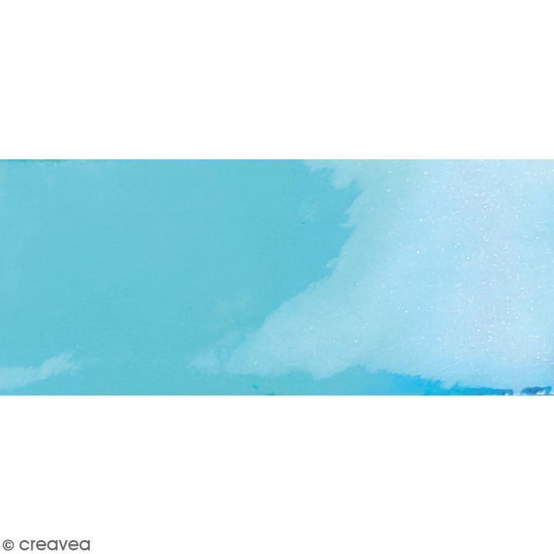 Coupon de tissu holographique - Bleu - 66 x 45 cm - Photo n°1