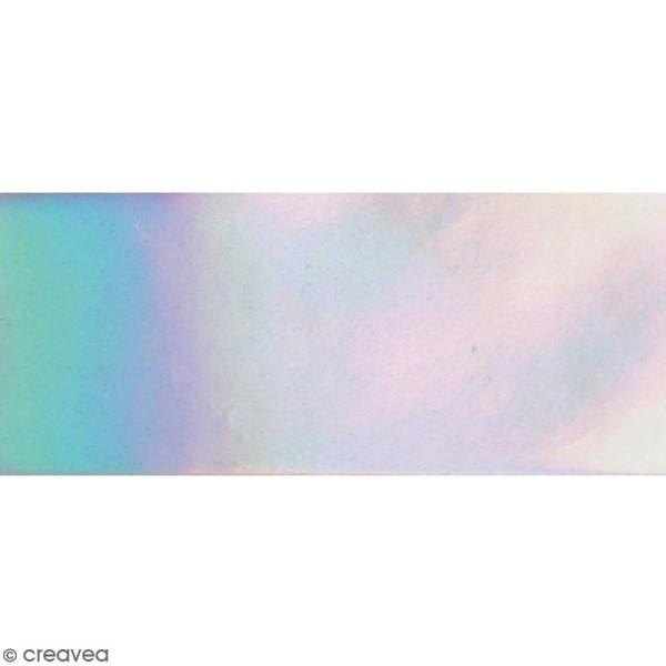 Coupon de tissu holographique - Argenté - 66 x 45 cm - Photo n°1