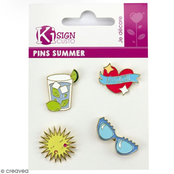 Lot de pin's - Summer - 4 pcs - Photo n°1