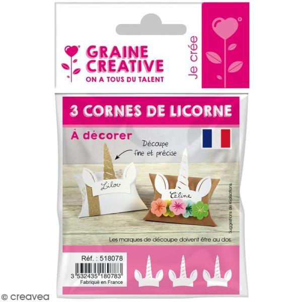 Die cuts Licorne - Blanc - 3 pcs - Photo n°1