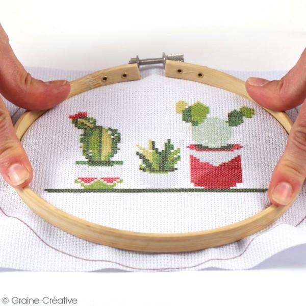 Kit tambour à broder Graine Créative - Cactus - 15,5 cm - Photo n°3