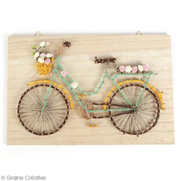Kit tableau string art - Vélo - 30 x 20 cm - Photo n°2