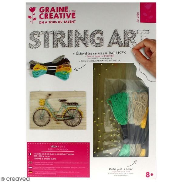 Kit tableau string art - Vélo - 30 x 20 cm - Photo n°1