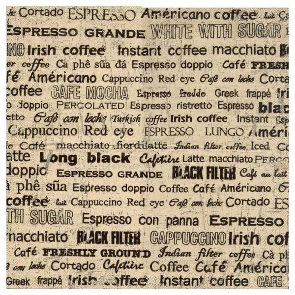4 Serviettes en papier Café écriture Expresso Format Lunch - Photo n°1